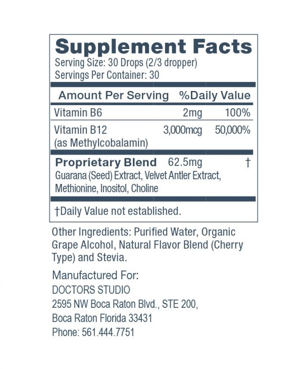 LIPO MIC supplement facts