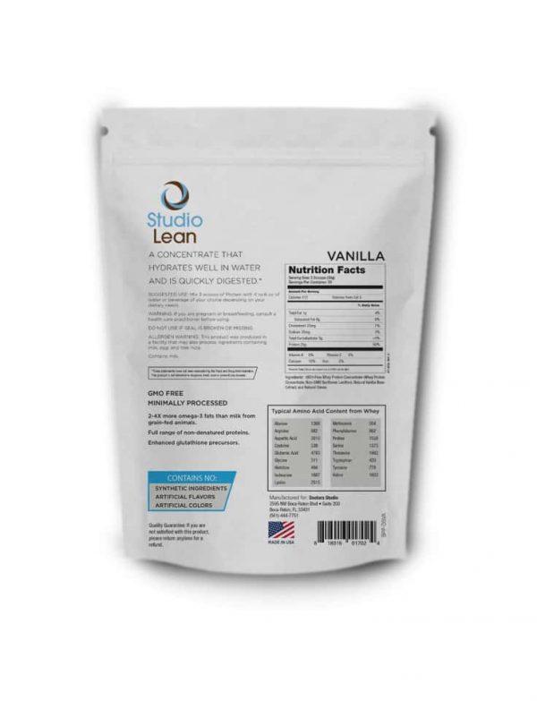 Cell SOUL Food Vanilla back