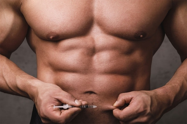 Man injecting into abs